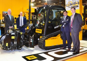 John Dolphin (Director – Major Accounts, Gunn JCB) Alex Gadd (Product Manager - Plant, Hewden) Kumar Bhamidipati (Operations Director, Hewden) Dan Thompstone (JCB UK & Ireland Sales Director)
