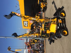 The JCB Hydradig is demonstrated to thousands of visitors at the Bauma show in Munich.