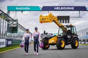 JCB LOADALLS LIMBER UP FOR AUSTRALIAN FORMULA ONE RACE