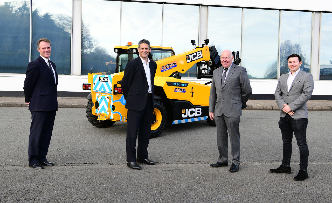 M O'BRIEN TAKES CHARGE WITH JCB ELECTRIC LOADALLS